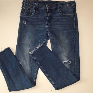 Other - girls dark wash skinny jeans